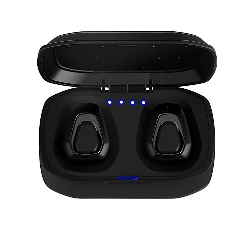 in-Ear Stereo Headphones,Roisay TWS-A7 Mini True Wireless Sport Earbuds Headset Bluetooth HiFi Freedom Comfort Headphone Pure Sounds Built-in 300mAh Battery Box (Black) (Best Earphones Under 20 Pounds)