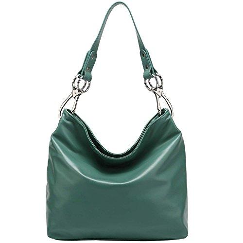 fash-limited-chic-hobo-handbag-glossy-texture-pu-leather-handbag-green
