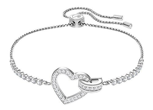 (Swarovski Crystal Lovely Rhodium-Plated Bolo Bracelet)