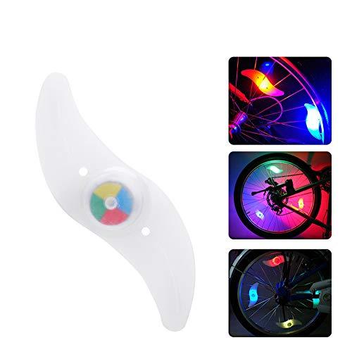 [해외]자전거 휠 라이트 (6 개 세트) LED 자전거 타이어 라이트 자전거 LED 스포크 라이트 프런트 및 리어 휠 라이트 3 본 점멸 야간 안전 빛 밤길 안전 경고 라이트 방수 디자인 풍차 형 / Bicycle Wheel Light (Set of 6) LED Bicycle Tire Light Bike S...