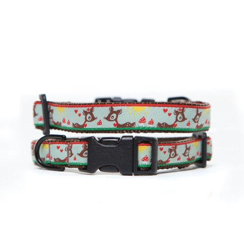 Max & Zoey Bambie Dog Collar, Small, Green