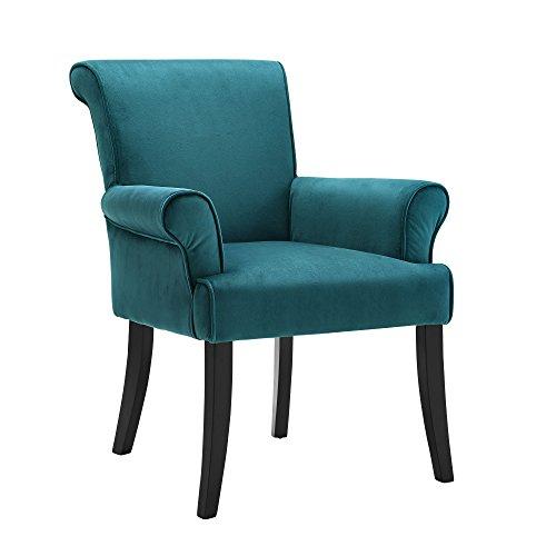 Linon 36261DBLU01U Calla Arm Chair, 27.95