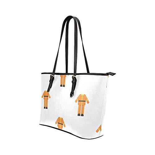 Ladys handväskor tecknad animation brandman hjälte krigare läder handväskor väska orsaksala handväskor dragkedja axel organiserare för dam flickor kvinnor handväskor väska