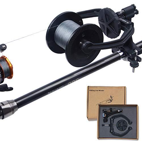 AGOOL Fishing Line Spooler Portable Spooling Station System Fishing Line Winder Baitcaster Reel Line Spooler