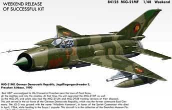 Amazon.com: MIG-21MF aviones (Edición Fin de Semana Kit de ...