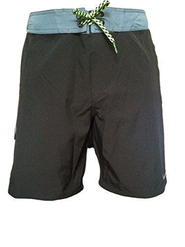 Mens Nike 9 Volley Trunks - Boardshorts - Swim Trunks - Bathing Suit - Blue/Grey (34)