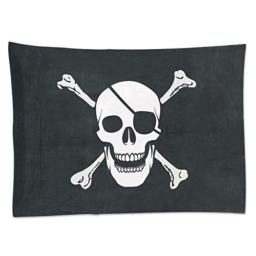 "Beistle 50045 Pirate Flag Party Decoration, 29"" x 3'4"", Blac"