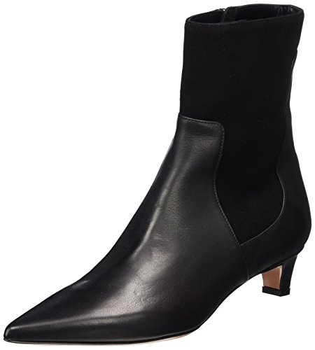 Oxitaly Damen Sandra 341 Chelsea Boots Schwarz (nero)