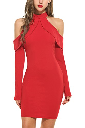 Zeagoo Womens Shoulder Cocktail Bodycon product image