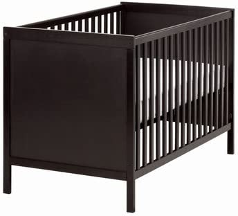 IKEA SUNDVIK - Cuna, negro-marrón - 60x120 cm: Amazon.es: Hogar