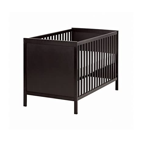 Amazon.com: IKEA SUNDVIK - Cot, black-brown - 60x120 cm ...