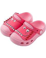 Plzensen Kid's Cute Garden Shoes Slide Sandals Clogs Slip On Lightweight Beach Pool Sandals