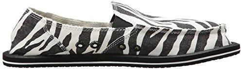 Tamaño para Game Im gris Zebra mujer Sanuk Mules Negro Blanco Yqtxw7F