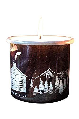 United By Blue - Mountain Cabin Enamel Candle Mug 12oz - 9oz Soy Candle