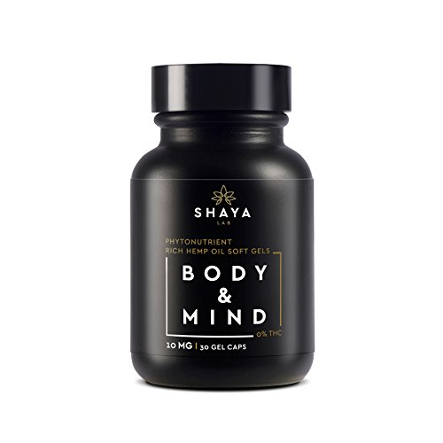 SHAYA-Botanicals FS Hemp Oil SoftGel Capsules 300mg 30ct 10mg Per Capsule for Aiding Relief for Insomnia, Anxiety, Depression and Pain Relief