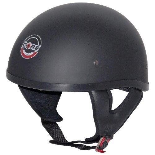 Core Cruiser-X Half Helmet (Flat Black, Small) (Helmet Cruiser Small Half)