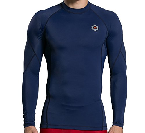 Dynamic Athletica Mens Compression Long Sleeve Shirt, Stay Cool and Dry, Improve Workouts and Blood Circulation