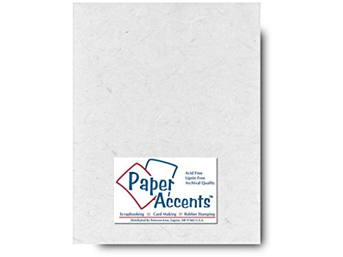 Accent Design Paper Accents Mulberry 8.5x11 25gsm White