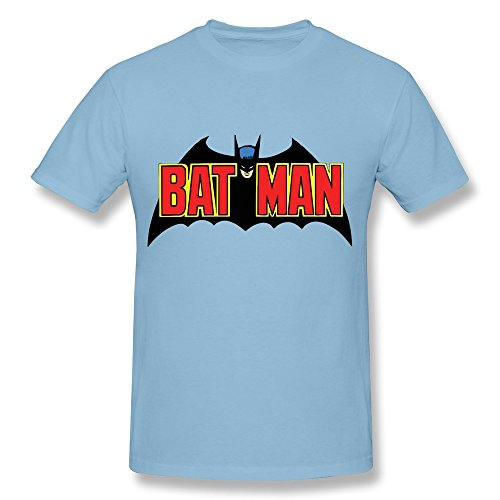 HD-Print Classic 70 S Batman Logo By Bean525 D68br7d T-shirt For Man SkyBlue Size XXL