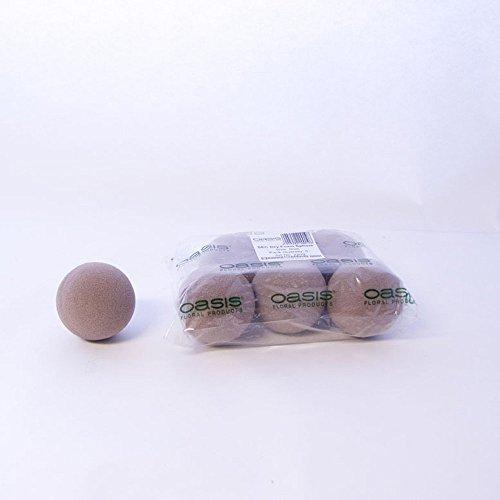 2x Oasis sec 9cm rotondo sfera palla schiuma a secco Per fioristi floreali Craft fiori fiorai matrimoni disegni e display Topiary