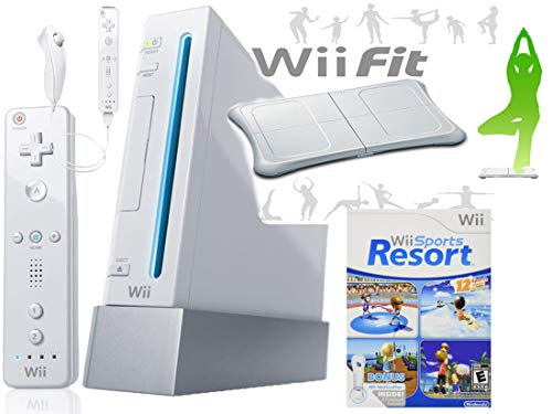 Wii Console System with Wii Sports Resort Game with TWO MotionPlus Attachments