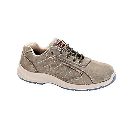 Zapatos de seguridad bajos Jack verde de gris Kapriol