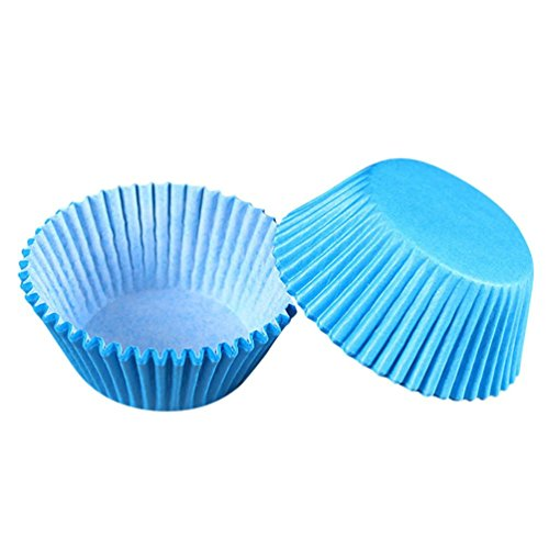 (Cupcake Liner, 100 Pack, Blue, Cake Decorating Supplies, Cupcake Wrappers Cupcake Liners cut Cupcake Papers Muffin cups for Wedding Birthday Party Decoration Home Decor)