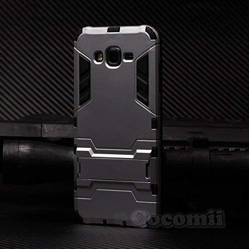 Cocomii Iron Man Armor Galaxy J7 Case New [Heavy Duty] Premium Tactical Grip Kickstand Shockproof Hard Bumper [Military Defender] Full Body Dual Layer Rugged Cover for Samsung Galaxy J7 (I.Silver)