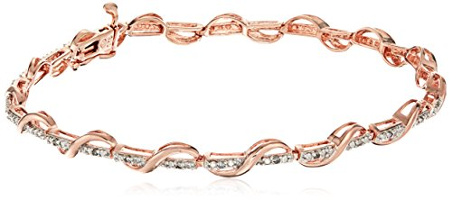 Two-Tone Sterling Silver and 18k Rose Go - Sterling Diamond Two Tone Bracelets Shopping Results