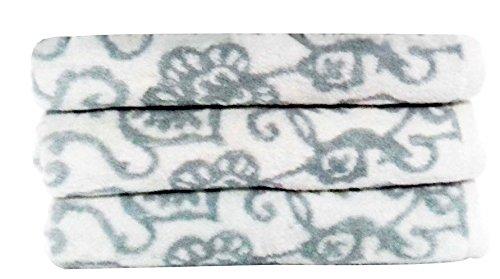 Livingston Home Luxurious Botanical 3 Piece Bath Towel Set, Large, Ashley Blue