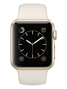 Apple Watch Sport 38mm Gold Aluminum with Antique White Sport Band (Certified Refurbished)