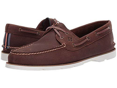 - Sperry Top-Sider Leeward Nautical Cross Lace Boat Shoe Men 10.5 Brown