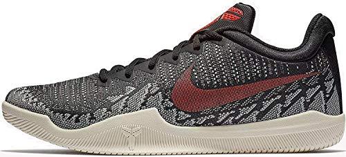 sale retailer 19e8f 7d210 Nike Men s Mamba Rage Basketball Shoes Black Bright Crimson Sail Size 10.5  M US