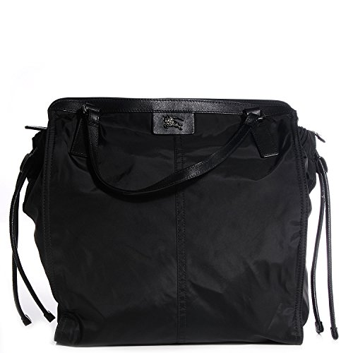 BURBERRY Buckleigh Black Nylon Packable Tote