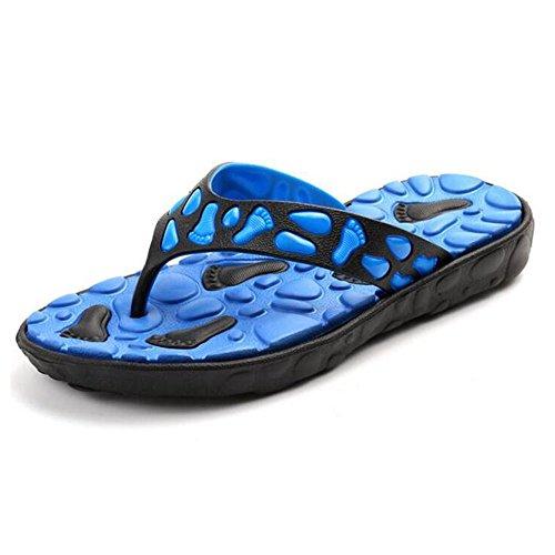 Massage Thong Comfort (Slduv7 Flip Flops Men Outdoor Light Weight Slippers Comfort Massage Beach Thongs Sandals)