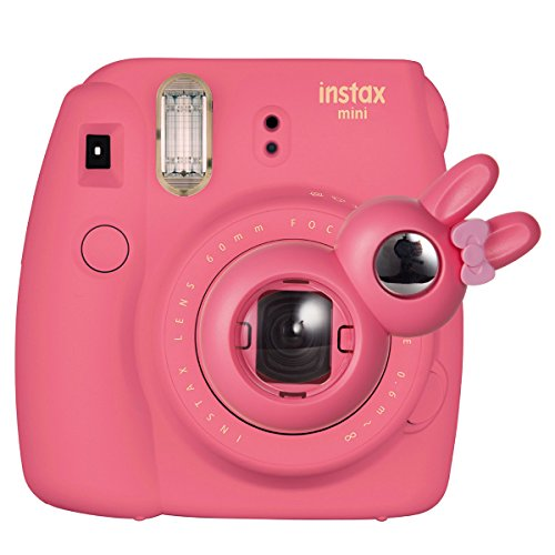 CAIUL Compatible Bunny Mini 9 Close Up Selfie Lens with Self-Portrait Mirror for Fujifilm Instax Mini 9 8 8+ 7s, Polaroid 300 Camera (Flamingo - Hello Lens Kitty