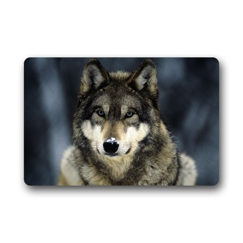 Roman's Doormat Custom Machine-Washable Door Mat Lone Wolf Doormat Machine-washable Floor/Bath Decor Mats Rug