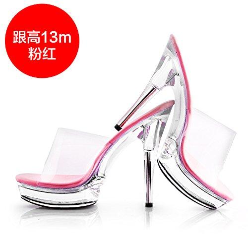 FLYRCX Señoras sexy moda alta personalidad de verano con sandalias zapatos de fiesta g