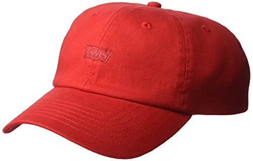 Levi's Men's Brushed Twill Baseball Dad Hat, red, One ()