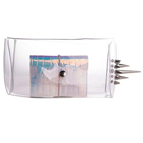 Zarapack, Poschette giorno donna Trasparente transparente Trasparente (Transparente - Style 2)