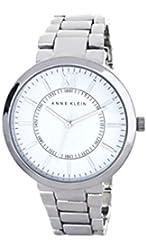 Anne Klein Women's White Dial Metal Bracelet Watch AK/1555WTSV
