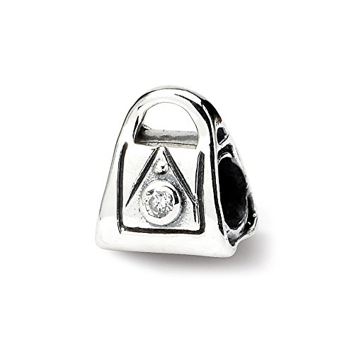 925 Sterling Silver Charm For Bracelet Kids Cubic Zirconia Cz Handbag Bead Kid Line Fine Jewelry Gifts For Women For Her