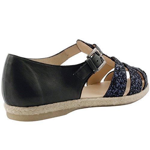 Exclusif ParisExclusif Paris Nita, Chaussures femme Sandales cuir - Sandalias de Vestir Mujer Azul - azul