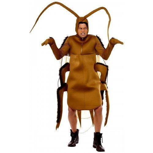 [Mens Adult Cockroach Novelty Animal Stag Do Fancy Dress Costume Outfit by Fancy Me] (Cockroach Costumes)
