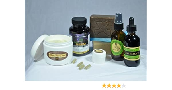 Neem Fungal Fighter Knock Out Kit- Capsules, extract, Soap and Cream- Made  in USA