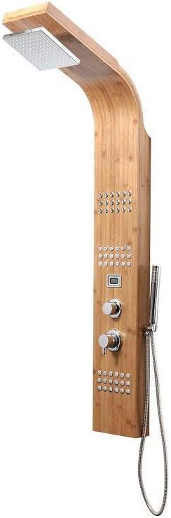Miliboo - Columna de ducha termostática bambú POTOMAC: Amazon.es ...