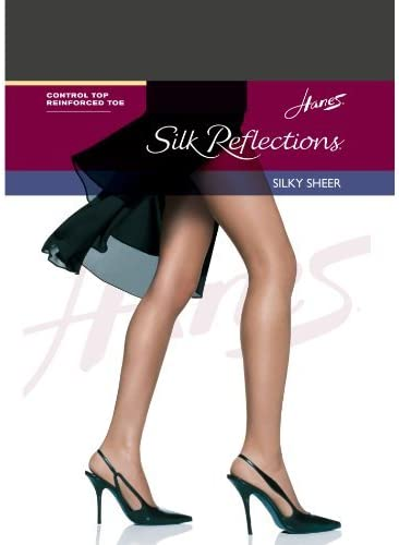 Hanes Womens Set of 3 Silk Reflections Control Top RT Pantyhose - Best-Seller!