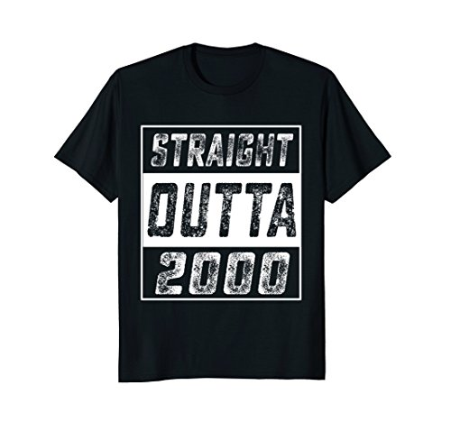 - Straight Outta 2000 18th Years Old Shirt 18 Birthday Gift