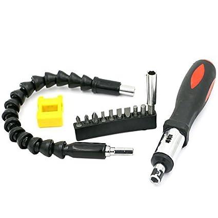 Extensión flexible Destornillador portapuntas de destornillador + ...
