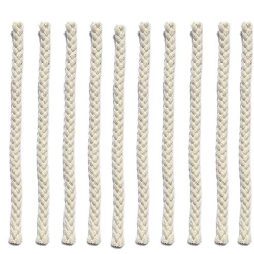 10PCS Alcohol Lamp Replacement Wick, Hollow Eight-Strand Cotton Thread 15cm Length